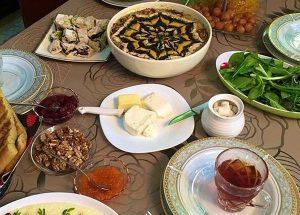 عسل و غذای افطار و سحر