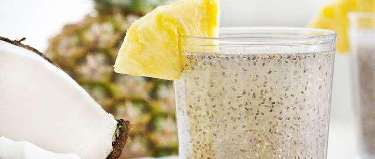 مصرف دانه چیا و آب نارگیل