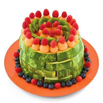 تزیین هندوانه شب یلدا شکل کیک