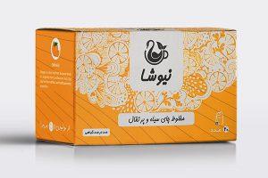 چای سیاه و پرتقال کیسه ای نیوشا