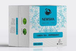 چای سبز و نعناع فلفلی مثلثی
