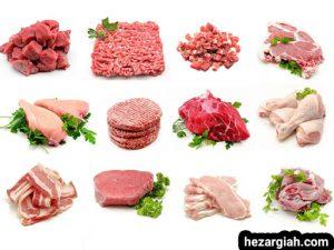 طبع خوراکی ها گوشت ها