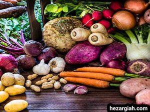 طبع خوراکی ها ریشه ها
