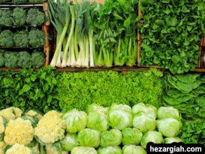 طبع خوراکی ها سبزیجات